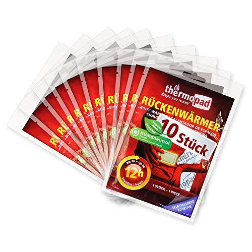 Thermopad Erwachsene Rückenwärmer – DAS ORIGINAL x Wärmepads für 12 Stunden sofort einsatzbereite I Extra warme Wärmekissen-Pads, auch geeignet als Nackenwärmer, Schulterwärmer & Nierenwärmer, 10 Paar