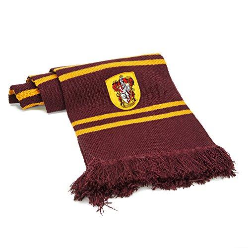 Cinereplicas - Harry Potter - Schal -Super weich Hellrot & Gelb - Offiziel lizensiert -Gryffindor - 190 cm –Hellrot und Gelb