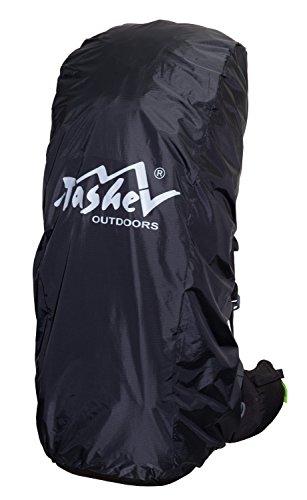 Regenhülle Tashev für Rucksäcke von 60 bis 80+15 Liter (Schwarz)