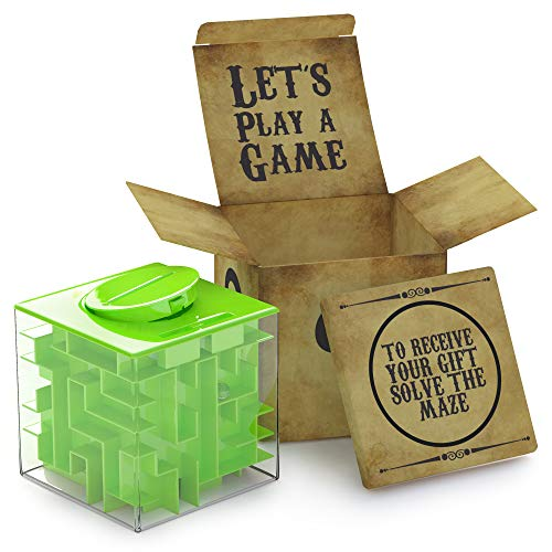 AGREATLIFE Knobel Spardose für Kinder - Geldgeschenke Verpackung - Magische Rätselbox - Money Maze Geldlabyrinth - Originelles Geldgeschenk - Fördert Konzentration, Geduld und Geschick