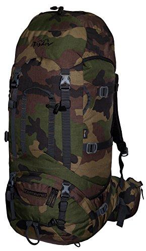 Tashev Outdoors Kentaurus Trekkingrucksack Wanderrucksack Damen Herren Backpacker Rucksack groß 60l Plus 10l Camouflage (Hergestellt in EU)