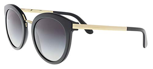 Dolce & Gabbana Damen DG4268 Sonnenbrille, Mehrfarbig (Gold, Schwarz/Grau verlaufend 501/8G), Small (Herstellergröße: 52)