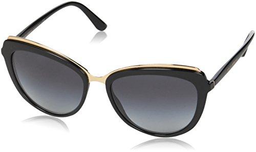 Dolce & Gabbana Sonnenbrille DG4304-5018G-57 Cateye Sonnenbrille 57, Schwarz