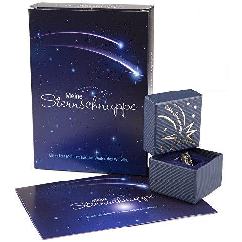Meine Sternschnuppe in Geschenkbox mit Grußkarte (Geschenkset) - Meteorite - Geschenkidee für sie & ihn - Geburstagsgeschenk - Weihnachtsgeschenk - Geschenk zur Taufe & Geburt