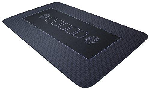 Profi Pokermatte schwarz in 100 x 60cm von Bullets Playing Cards für den eigenen Pokertisch - Deluxe Pokertuch - Pokerteppich - Pokertischauflage - ideal als Geschenk