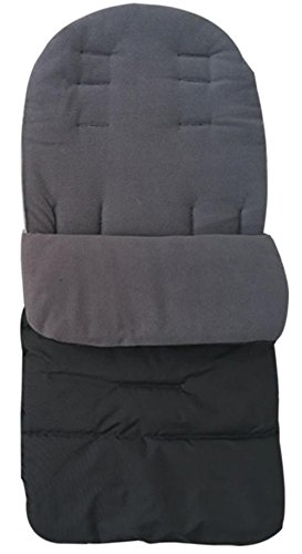 sunnymi Universal Baby Fußsack, Kleinkind Winddicht Warm Pram Kinderwagen Dickes Wattepad, Gemütliche Zehen Schürze Liner Buggy (Baumwollmischung, Grau)