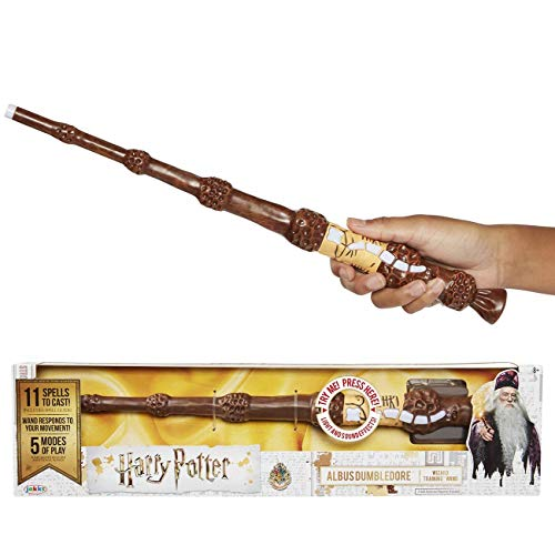Harry Potter 73212 Dumbledore Dumbledore\'s magischer Zauberstab mit Funktion, 38 cm, Braun, Hand/A