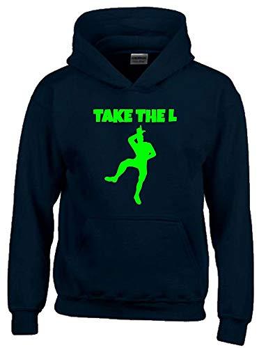 TAKE The L Hoodie Sweatshirt mit Kapuze schwarz-Green Gr.152 cm