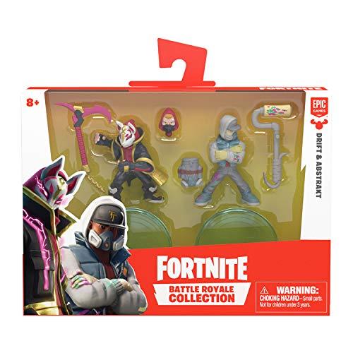 Fortnite 35934 Battle Royale Collection, Duo Figurenset Drift & Abstrakt, Actionfiguren Epic-Game, mit Waffen und Ständer, Mehrfarbig, 63536