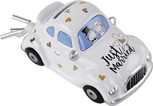 MT wunderschöne Spardose,Sparschwein,Hochzeitskasse,Hochzeitsdeko ,Hochzeitsauto,Hochzeits-Auto zur Hochzeit,Hochzeitspaar im Auto