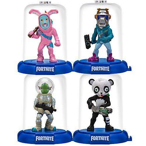 Fortnite DMZ0262 Domez 6 cm Figuren 4-er Pack (Squad Mode-DJ Yonder, Rabbit Raider, Panda Team Leader, Leviathan) Serie 2 Sammelfiguren