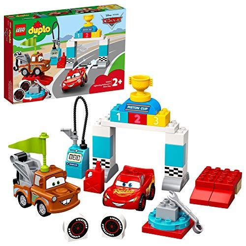 LEGO 10924 DUPLO Cars Lightning McQueens großes Rennen, Disney Pixar Cars Spielzeug für Kleinkinder ab 2 Jahren