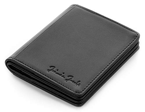 JAIMIE JACOBS Flapstar Magic Wallet Leder magische Geldbörse kein Falten der Geldscheine nötig RFID-Schutz Herren (Gravur)