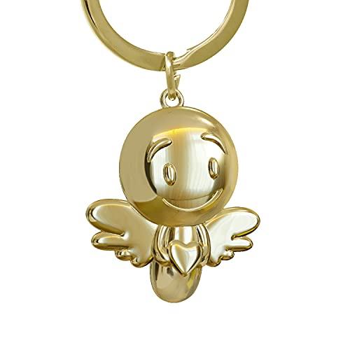 ANKERPUNKT Schlüsselanhänger Engel Herz Lovely - Glücksbringer zum Schulanfang - Geschenk zum Abschluss - Geschenke für Frauen beste Freundin Männer Freund - gold glänzend