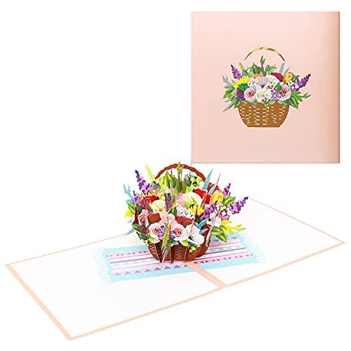 Muttertag GrußKarten,Blumengrußkarten,3D-Blumenkarten für Mütter, (Muttertag, Jahrestag, Geburtstagswünsche, Geschenkkarten) Geschenk Zum Muttertag Für Mama, Oma oder Freundin
