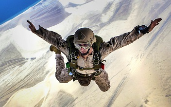 skydiving als geschenk