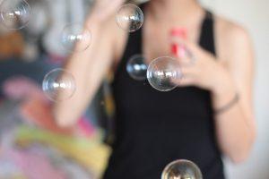 Hochzeit mit Seifenblasen