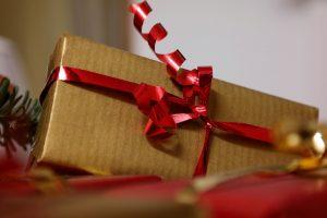 Schleife am Geschenk