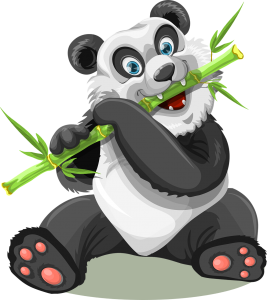 Panda Bär als Wandtattoo
