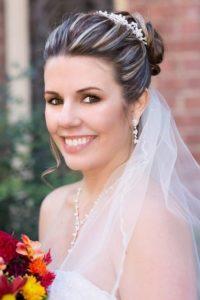 Haare mit Brautschmuck