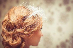 Haare gestylt für die Hochzeit