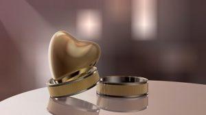 Verlobungsring und Hochzeitsring